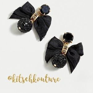 Just In! J. Crew Pave Drop Bow Earrings
